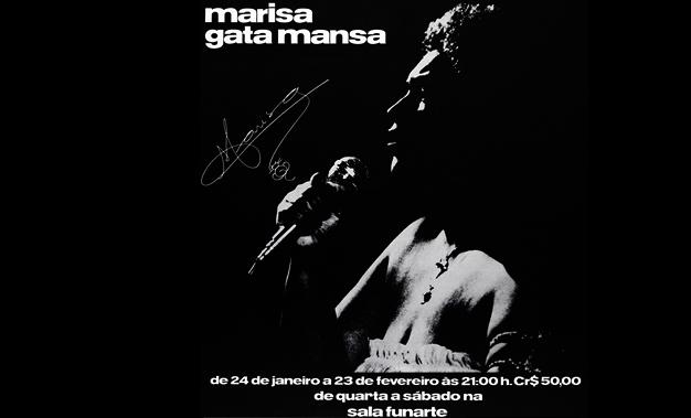 Marisa Gata Mansa show Sala Funarte