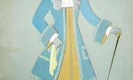 Figurino de Santa Rosa para a peça Escola de Maridos, de Molière (1943)