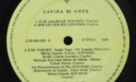 Discos Projeto Almirante – Capiba 80 anos – Selo vinil lado B