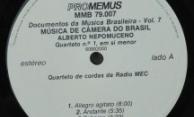 Discos PRO-MEMUS – Alberto Nepomuceno – Selo Lado A
